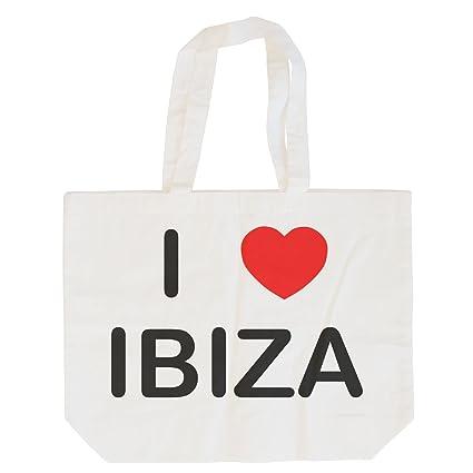 I Love Ibiza - Bolsa de Compras de algodón Maxi: Amazon.es ...