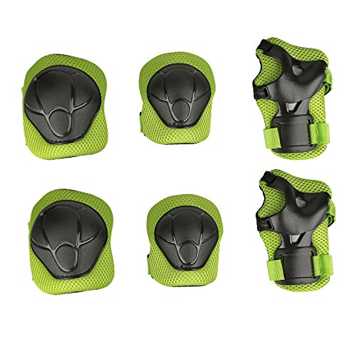 Child Protective Gear Set Physport Cycling Knee Pads and Elbow Pads with Wrist Guards for Cycling Skateboard Scooter Bmx Bike and Other Outdoor Sports Activities Knee And Elbow Pads