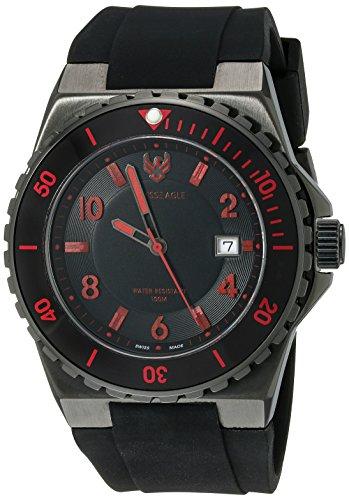 Swiss Eagle Men's SE-9039-04 Response Analog Display Swiss Quartz Black Watch