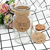 for You Tag,100PCS Kraft Paper Gift Tag,Price Tag