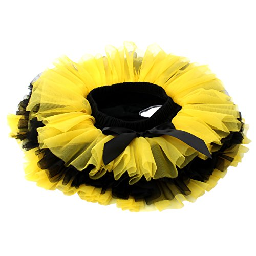 Slowera Baby Girls Soft Tutu Skirt (Skorts) 0 to 36 Months (M: 6-12 Months, Yellow Black)]()
