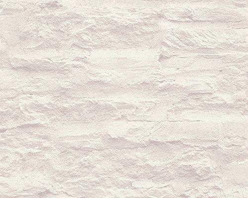 Schöner Wohnen Tapete, Mustertapete in Felsenoptik, creme, weiß, 959083
