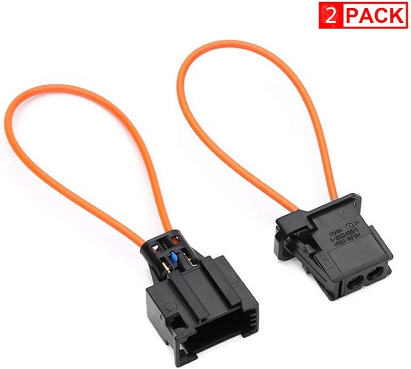 2 PCS Fiber Most Optic Loop Connector Diagnostic Device Tool Bypass Female and Male Adapter for Radio and Audio