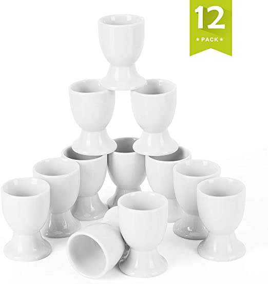 Serie Regular Malacasa 12-teilig 2//5*5*6,3cm Cremewei/ß Eierbecher Porzellan Eierst/änder Eierhalter