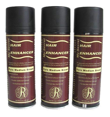 Hair Enhancer - My Secret Hair Enhancer Medium Brown 5oz 3 Pack