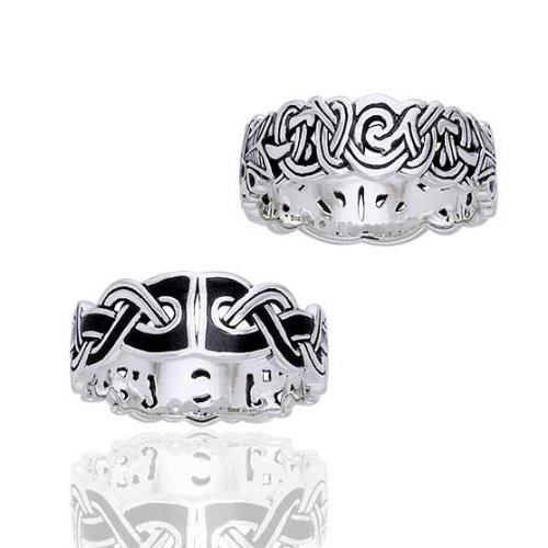 amazoncom mammen weave viking knot wedding band norse celtic sterling silver ringsizes 456789101112131415 jewelry - Viking Wedding Rings
