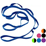 Wacces Yoga Strap Stretch Restore Multi-Grip Fitness Pilates Stretching Belt Multicolor