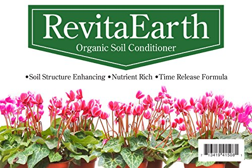 RevitaEarth – Decorative Mulch & Organic Soil Fertilizer for Houseplants and Small Gardens – 5 Quart