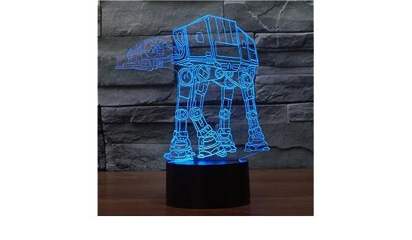 XANXUS visión ® Star Wars proyección 3d visuales LED mesa de luces de noche para niños Touch USB Lampara como saco de dormir de además de lámpara luz ...