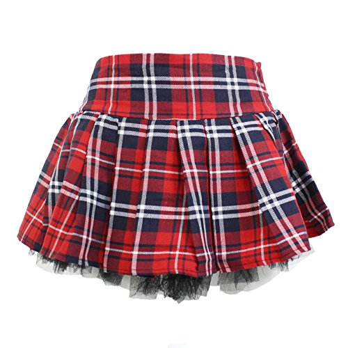 Scottish Costume Golf (Plaid Schoolgirl Costume Skirt with Pettiskirt (1X/2X,)