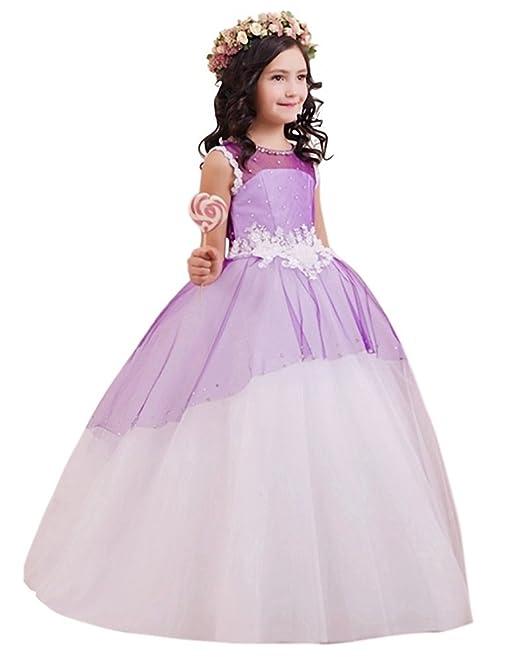 af887500f kekehouse® Flores las niñas vestido de boda para cuentas diseño con lazos  vestido de princesa