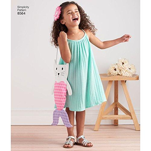 Simplicity Creative Patterns US8564A Dress, Top, Shorts and Bag, A (3-4-5-6-7-8)