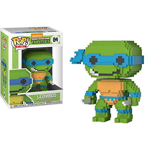 Funko Leonardo: Teenage Mutant Ninja Turtles x POP! 8-bit Vinyl Figure & 1 POP! Compatible PET Plastic Graphical Protector Bundle [#004 / 22981 - -