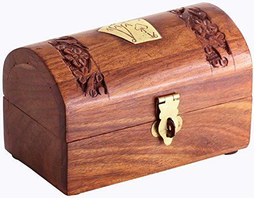 StarZebra Fathers Day Gifts - Wooden Playing Card Box Double Deck Storage Holder 5