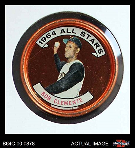 1964 Topps Coins # 150 All-Star Roberto Clemente Pittsburgh Pirates (Baseball Card) Dean's Cards 4 - VG/EX Pirates