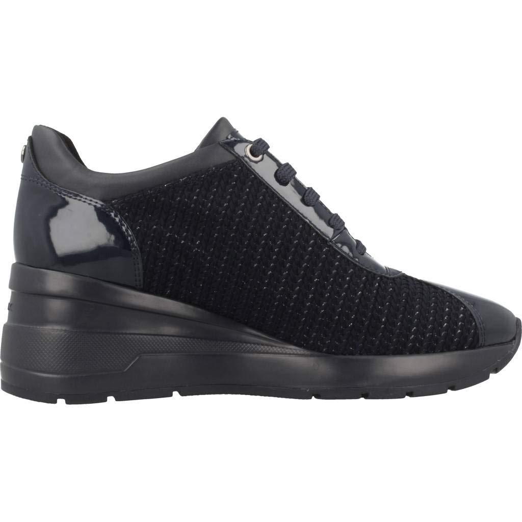 Geox D Zosma A, Sneakers Basses Femme, Bleu (Navy C4002), 40