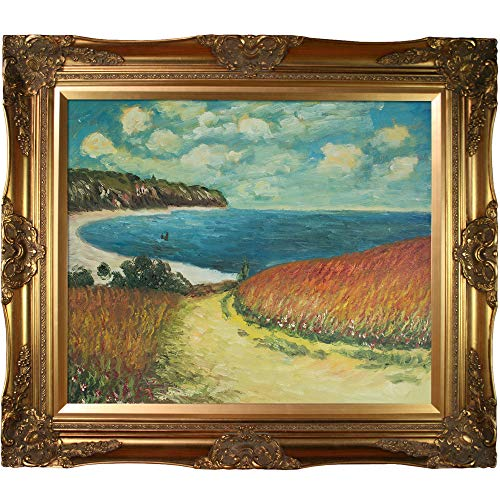 overstockArt Meadow Road to Pourville, 1882 with Victorian Gold Framed Oil Painting, 32
