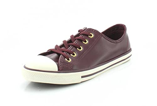 9c00dac08e14 Converse Womens Chuck Taylor All Star Dainty - Ox Craft SL Dark  Sangria Gold