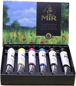 MIR Pack OLEOS Set con 6 Tubos de Pintura al óleo Amapolas. Gama ...