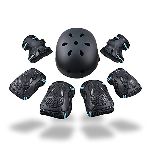 Gear Set Knee Pads for Kids Knee and Elbow Pads with Wrist Guards for Skating Cycling Bike Rollerblading Scooter (Helmet+Knee Pads+Elbow Pads+wrist Pads) (1st Gear Set)