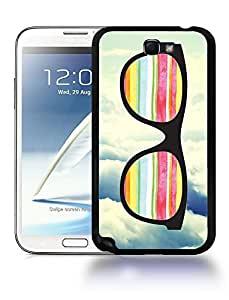 Hipster Infinity of Love Colorful Glasses Phone Case Cover Designs for Samsung Galaxy Note 2