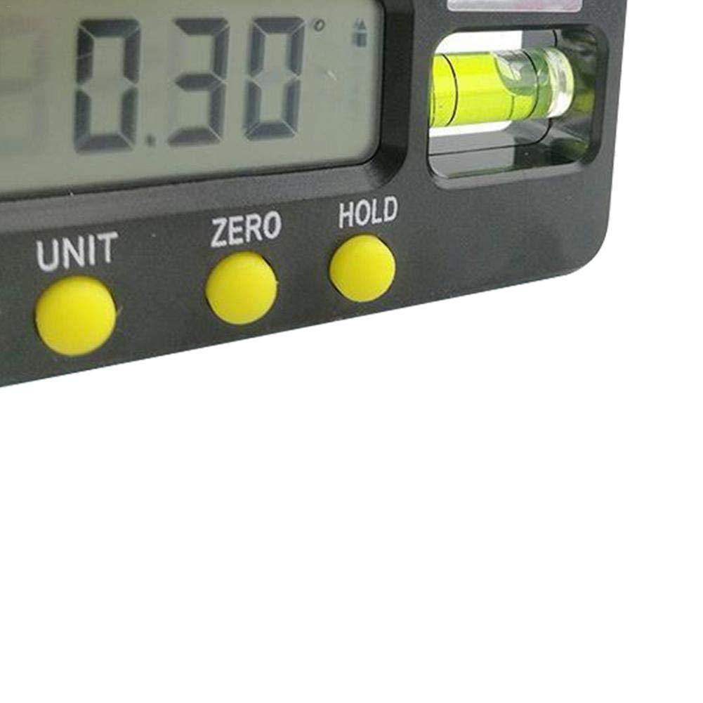 con retroilluminazione Magnetica Display Digitale Livella a Bolla 100//150//200 mm inclinazione per goniometro primrosely A:100mm in Lega di Alluminio