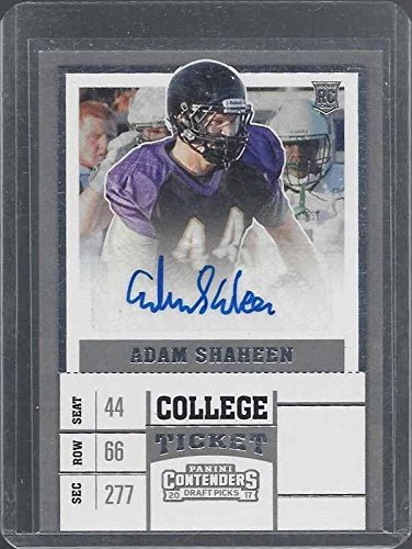 Adam Shaheen 2017 Panini Contenders Draft Picks Bears Rookie Auto Rc #210 - Panini Certified - Football Slabbed Autographed Rookie Cards
