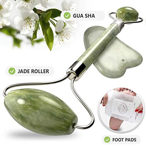 AVA Jade Face Roller - Gua Sha Scraping Massage Tool