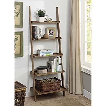 Convenience Concepts 8043391 Dftw American Heritage Bookshelf Ladder, Driftwood by Convenience Concepts