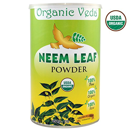 Organic Neem Leaf Powder - 1 Lb. ★ USDA Certified Organic ★ 100% Pure and Natural Raw Herb Super Food Supplement. Non GMO, Gluten FREE. All Natural!
