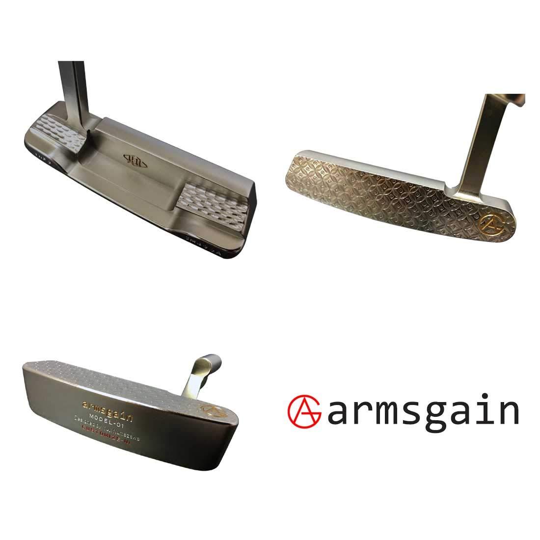 アームスゲイン(armsgain) パター Model-01【クランクネックタイプ】 SM490A ニッケルコーティング仕様 33 スチール ユニセックス ‐ 右 4度 パター B07S5TYR3M
