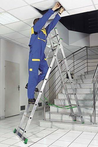 Escalera transformable aluminio 2 Plans; utilizar en las escaleras.: Amazon.es: Bricolaje y herramientas