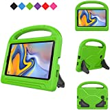 MENZO Kids Case Samsung Galaxy Tab A 8.0 2018(SM-T387), Light Weight Shockproof Handle Stand Kids Friendly Case Samsung Galaxy Tab A 8-inch 2018 Released Tablet- Green
