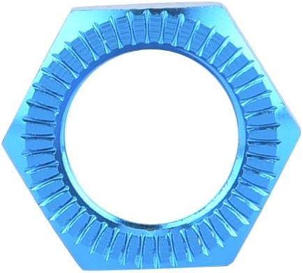 Blue Moyeu De Roue De V/éhicule DIdalinya /écrous De Roue De Lalliage Daluminium M12 17mm Cl/é pour 1//8 De Voiture Accessoire Rc