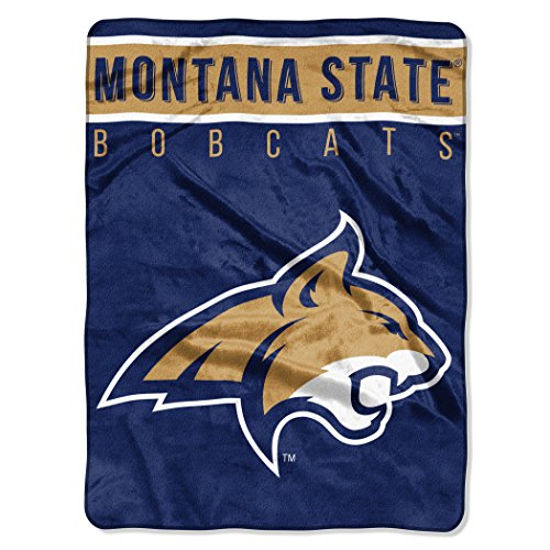 (The Northwest Company Officially Licensed NCAA Montana State Bobcats Basic Plush Raschel Throw Blanket, 60