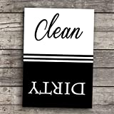 Clean Dirty Dishwasher Magnet Classic Style 2.5' x 3.5' Size