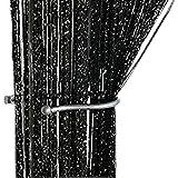 ZideTang Encryption Glitter Flat String Door Curtain Divider Tassel Panel Color Black