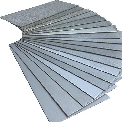 Jewboer Thin Diamond Sharpening Stone Polishing Plate Whetstone 60-3000 Grit (1800 Grit)