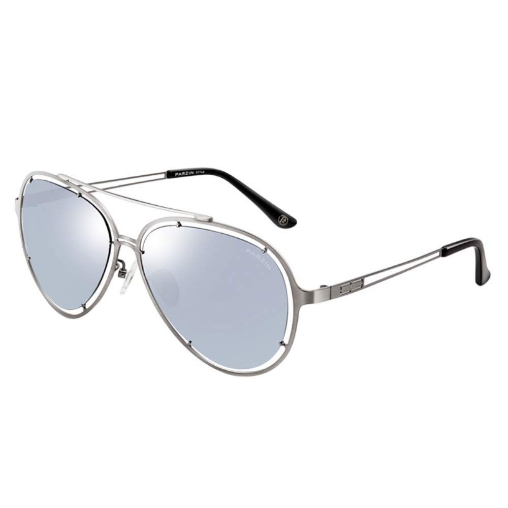 Polarized Sunglasses Men And Women Fashion Open Frame Trends Sunglasses Driving Mirror Silver Frame Water Silver