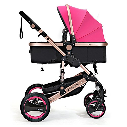0--36 months baby stroller 2 in 1 stroller lie or damping folding light weight Two-way use four seasons (6) by wisesonle