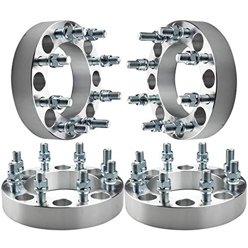 "GDSMOTU 4pc Wheel Spacers for Dodge Ram 8 Lug, 1.5"" Wheel Spacers 8x6.5 for 1994-2010 Dodge Ram 2500 3500,1975-1997 Ford F250 F350(Only 9/16"" Lugs),1992-2014 Ford E250 E350 Econoline(Only 9/16"" Lugs)"