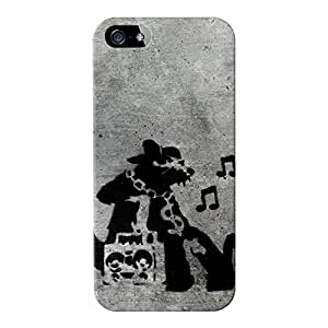 Banksy Music Rat 1 Full Wrap Case Impreso en 3d gran calidad, para iPhone 5/5S por Banksy
