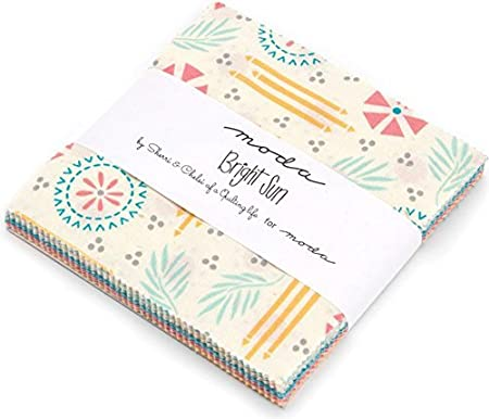 Bright Sun Charm Pack By Sherri & Chelsi; 42 - 5 Precut Fabric ...