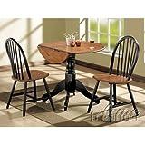 Acme 00878 3-Piece Mason Dining Set, Cherry and black finish