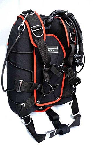 Sopras Tek Universal Back Side Mount System Jacket Red Scuba Diving