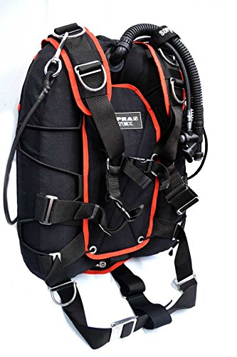 Sopras Tek Universal Back Side Mount System Jacket Red Scuba Diving Tech Dive Sidemount Harness backmount