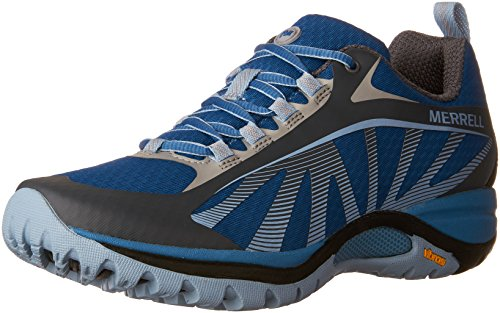 Merrell Women's Siren Edge Hiking Boot, Faience, 7.5 M (Blue Hiking Boots)