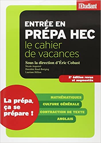 Livres Cahier de vacances Prépa HEC epub pdf