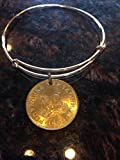 Macedonia 5 denar expandable style wire bangle bracelet bobcat