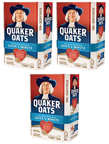 Quaker Oats 100% Whole Grain Quick 1-Minute Oatmeal Instant Oatmeal - 10 Pounds - Pack of 3